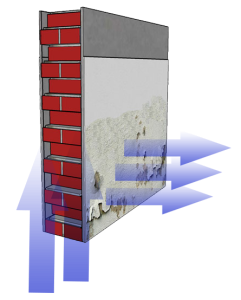 damp wall illustration